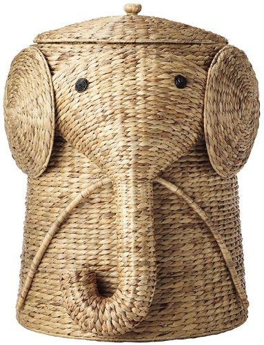 Home Decorators Collection Animal Bathroom Hamper, 20' Hx16 Wx17 D, NATURAL