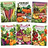 Rainbow Vegetable Seed Collection (35+ Varieties of Carrots, Peppers, Pumpkins, Tomatoes & Beets!) Non-GMO Seeds by Seed Needs
