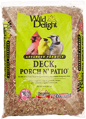 Wild Delight Deck, Porch N' Patio No Waste Bird Food, 20 lb-(374200)