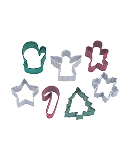Set of 6 Christmas Themed Mini Cookie Cutters