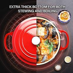 KUTIME-Cast-Iron-Dutch-Oven-3-Quart-Enameled-Dutch-Oven-Stock-Pot-with-Lid-Red