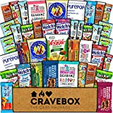 CraveBox Healthy Care Package (40 Count) Natural Bars Nuts Fruit Health Nutritious Snacks Variety Gift Box Pack Assortment Basket Bundle Mix Sampler College Student Office Fall Semester Back to School