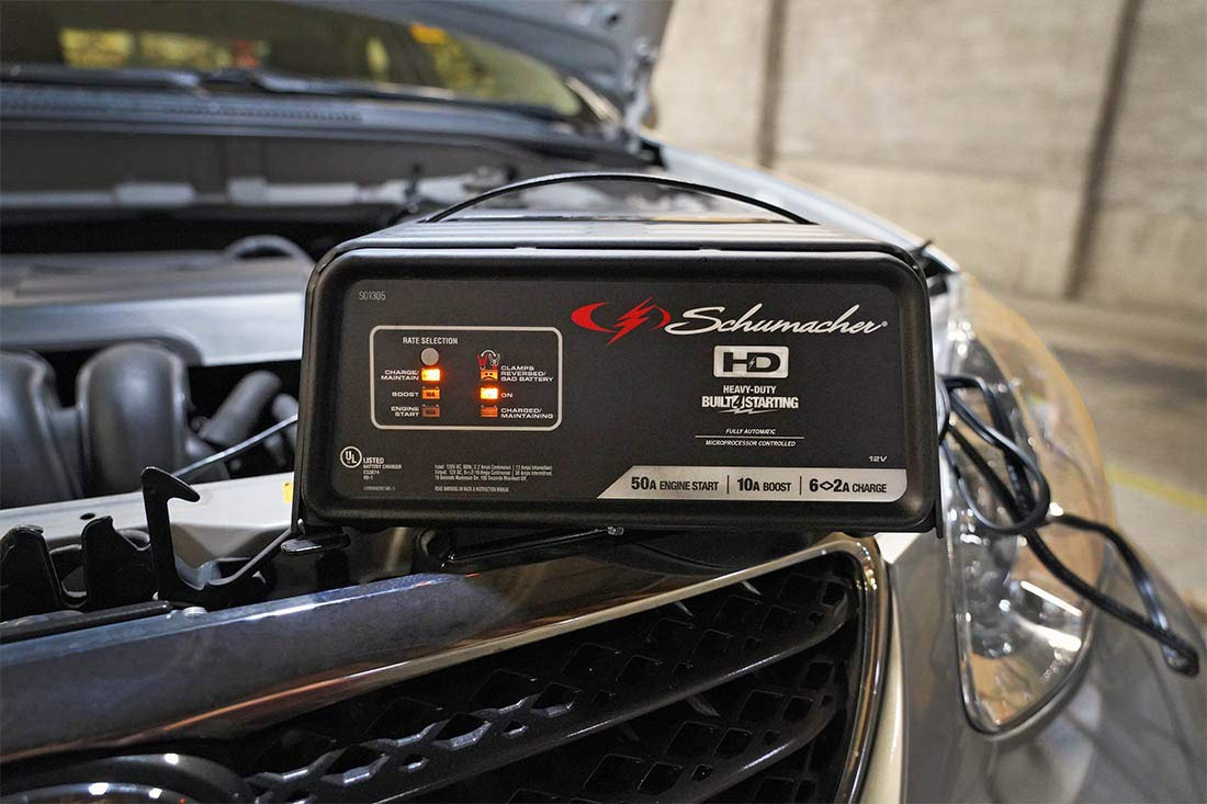 Best ATV Battery Charger Schumacher SC-1200A-CA SpeedCharge 12Amp 6/12V Fully Automatic Battery Charger