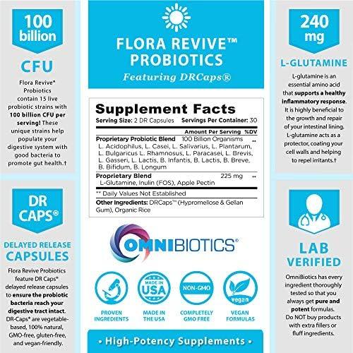 Probiotics 100 Billion CFU   Clinical Strength Probiotics for Women, Probiotics for Men   15 Strain Probiotic Supplement with Delayed Release Capsules (DRCaps) Plus Prebiotics and L-Glutamine 2