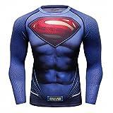 Red Plume Men's Film Super-Hero Series Compression Sports Shirt Skin Running Long Sleeve Tee