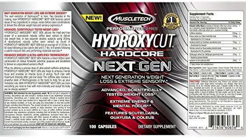 Weight Loss Pills for Women & Men | Hydroxycut Hardcore Next Gen | Weight Loss Supplement Pills | Energy Pills | Metabolism Booster for Weight Loss | Weightloss & Energy Supplements | 180 Pills 2