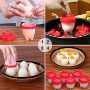 Egglettes-Egg-Cooker-Hard-Boiled-Eggs-without-the-Shell-Eggies-AS-SEEN-ON-TV6-Pack-with-BONUS-ITEM