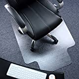 Marvelux 36' x 48' Heavy Duty Polycarbonate (PC) Lipped Chair Mat for Low, Standard and Medium Pile Carpets | Transparent Carpet Protector | Shipped Flat | Multiple Sizes