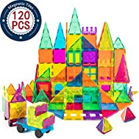 Why choose us?  Magnet building tiles has high quality, bright colors appeal to kids. Magnetic building blocks are sized just right and easy to use, whether creating designs on a flat surface or building in 3D basic shapes are learned through play. T...