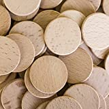 Round Unfinished 1.5' Wood Cutout Circles Chips for Arts & Crafts Projects, Board Game Pieces, Ornaments (100 Pieces)