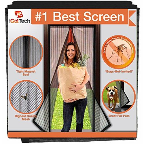 Magnetic Screen Door, Full Frame Seal. Fits Door Openings up to 34'x82' MAX