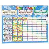 Roscoe Learning Responsibility Star Chart   Customize for 1-3 Kids   Magnetic Chore Reward System
