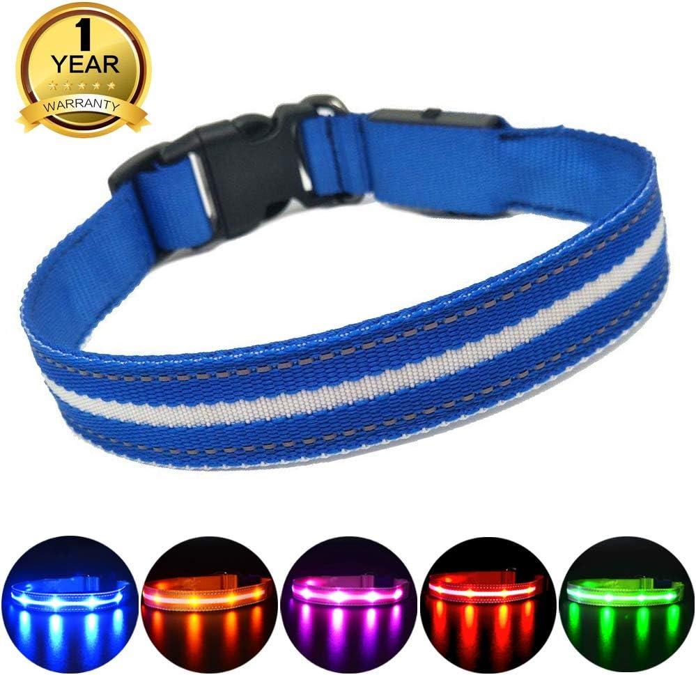 MASBRILL Cuello de Seguridad LED súper Brillante DC Recargable para Perros
