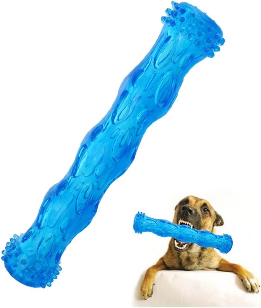 CEESC Juguete para Masticar con Forma de Hueso para Perro, Juego de Limpieza de Dientes y Rompecabezas para Cachorro, 3 tamaños y 3 Opciones de Colores