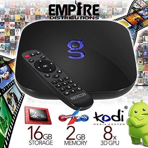 Matricom G-Box Q² Quad/Octo Core Android TV Box [2GB/16GB/4K] Fully Loaded and Ready to Watch (Supports Amazon Prime Video!)