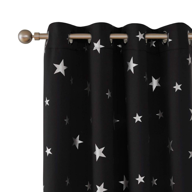 Cortina decorativa color negro https://amzn.to/2UulSoN