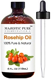Rosehip Oil for Face, Nails, Hair and Skin From Majestic Pure