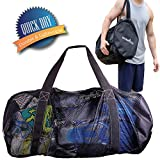 Athletico Mesh Dive Duffel Bag for Scuba or Snorkeling - XL Mesh Travel Duffle for Scuba Diving and Snorkeling Gear & Equipment - Dry Bag Holds Mask, Fins, Snorkel, and More