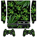 Designer Skin for Sony PlayStation PS3 SLIM System & Remote Controllers -Weeds - Black