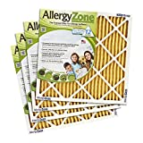 AllergyZone 20x25x1 Allergen Trapping HVAC Furnace 1' Air Filter, 4 Pack