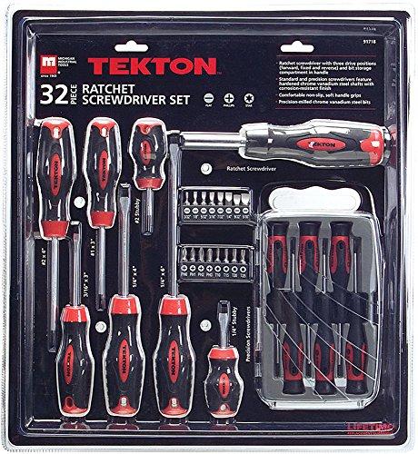 TEKTON 32-pc. Ratchet Screwdriver Set - 91718