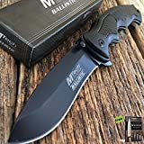 8.5' BLACK MTECH XTREME Ballistic Spring Assisted Open TACTICAL Pocket Knife Carbon Sharp Blade + Free eBook By SURVIVAL STEEL