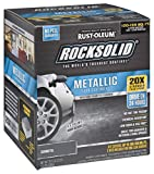 Rust-Oleum 299743 RockSolid Metallic Garage Floor Coating Kit, Gunmetal, 70 Fl. Oz