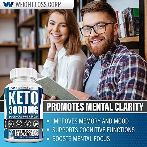 Keto Diet Pills - 3000MG - Exogenous BHB - Made in USA - Professional Certified Facility - 60 Capsules of Ketosis Supplement - Best Ketogenic Supplement for Women & Men 7