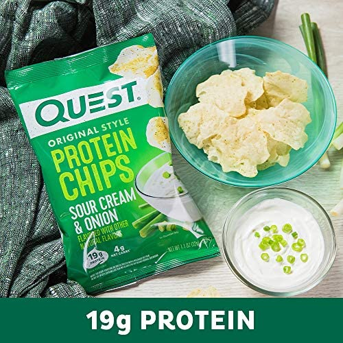 Quest Nutrition Protein Chips, Sour Cream & Onion, Pack of 12 9
