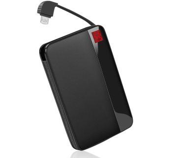 モバイルバッテリー ケーブル内蔵 8000mAh 軽量 小型 コンパクト 残量表示 急速充電可能 Android&iPhone Type-c各種対応【PSE認証済】