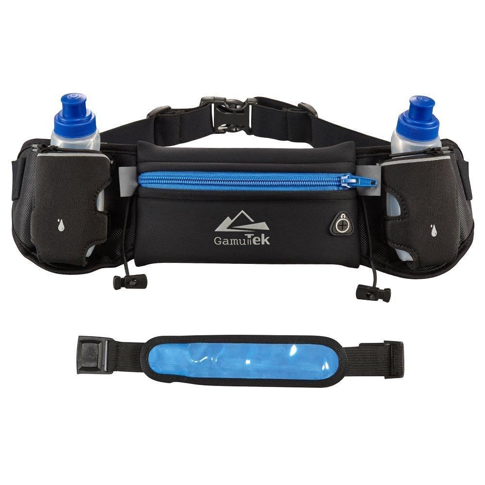 Mira-Tech Hydration Running Belt With Water Bottles