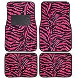 Zebra Hot Pink Floor Mats