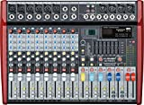 MUSYSIC Professional 10 Channel 4800W Power Mixer 24-bit FX Processor MU-P210fx