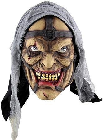 Ydxjj Mascara De Halloween Mascara De Latex Mascaras Horribles Mascara De Cara Completa Para Disfraces Horribles Disfraces De Halloween Accesorios De Fiesta Wspt Amazon Es Hogar