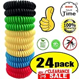 24 Pack Mosquito Bracelet,100% Natural Non-Toxic Bug Bracelet 350Hrs of Protection - for Kids,Women,Men