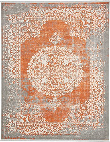 Unique Loom New Classical Collection Traditional Distressed Vintage Classic Terracotta Area Rug (8' 0 x 10' 0)