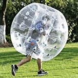 Happybuy Inflatable Bumper Ball 1.2M/4ft 1.5M/5ft Diameter Bubble Soccer Ball Blow Up Toy in 5 Min Inflatable Bumper Bubble Balls for Adults or Child (1.2M Transparent)