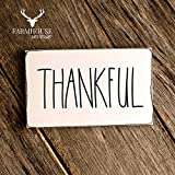 Rustic Thankful Sign | Rustic Wood Sign | Farmhouse Sign | Inspired Rae Dunn Sign | Rustic Home Decor | Farmhouse Home Decor | French Farmhouse Decor | Thanksgiving Fall Decor | Rustic Fall Signs