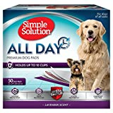 Simple Solution All Day Dog Pads | 6 Layer Premium Dog Pads, Absorbs up to 10 Cups of Liquid | 23x24, Lavender Scent, 50 ct