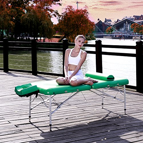 Master Massage 30' Calypso Ultra-Light LX Massage Table Package, Emerald Green, 25 lbs