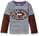 Mud Pie Baby Boys' Toddler Thanksgiving Football Game Time Long Sleeve Raglan T-Shirt, Brown, LG/ 4T-5T