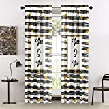 Idea Nuova You Do You Window Curtain Panel Pair 63 Black and White