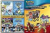 Legendary Trio Pokémon Roll Collectors 4-Film Set DVD + Pokemon Mini Pack Card Collection / Heroes, Pokemon 4Ever, Jirachi, Pokemon Destiny Deoxy's bundle
