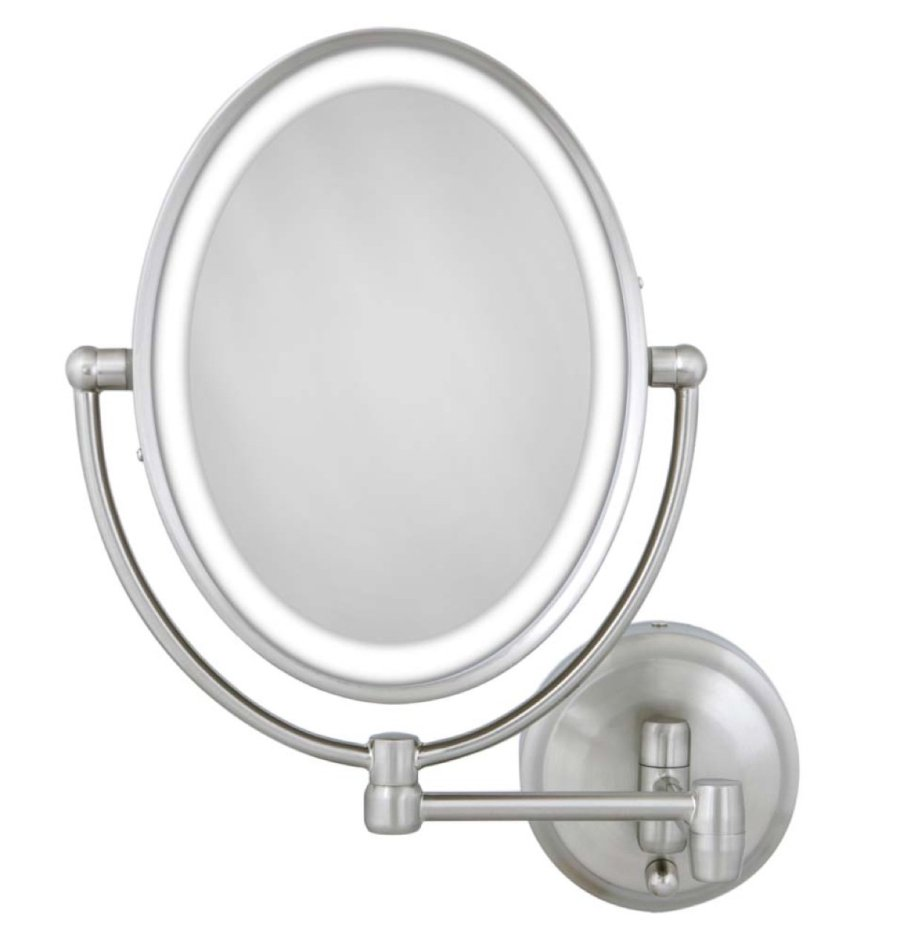Zadro 10X/1X Next Generation LED Lighted Oval Wall Mount Mirror,