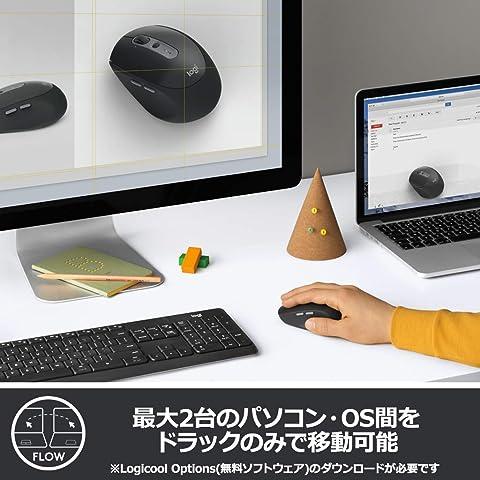 ロジクール ワイヤレスマウス 無線 静音 Bluetbooth Unifying 7ボタン M590GT グラファイトトーナル windows mac Chrome Android iPad OS 対応 M590 国内正規品 2年間