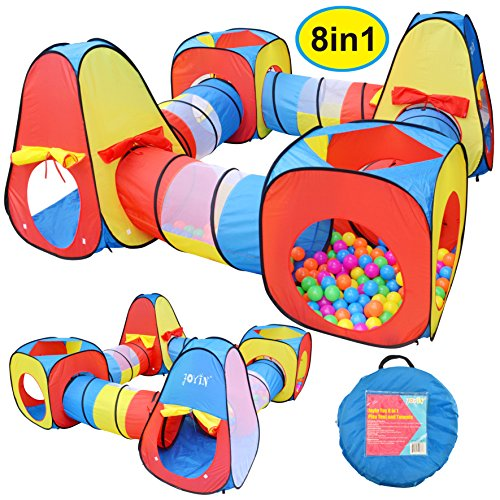 Joyin Toy 8 in 1 Pop-up Play Tent Tunnel...