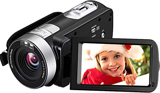 Camcorder Video Camera 4K 30MP Digital Camcorder Camera with Microphone Ultra HD Vlogging Camera with Remote Control Rotatable 3.0 in Touch Screen (V14)