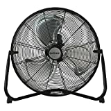 Hurricane Floor Fan - 20 Inch | Pro Series | High Velocity | Heavy Duty Metal  Floor Fan for Industrial, Commercial, Residential, and Greenhouse Use - ETL Listed, Black