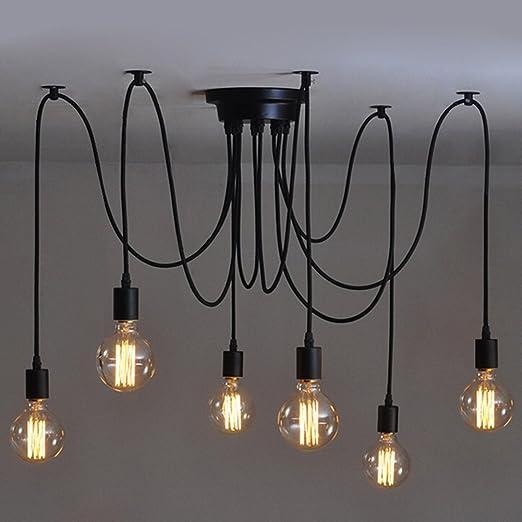 6 Pcs Luminaire Suspension Style Européen Moderne Ikea Lampe Pendante Lampe Plafonnier Diy Installation Facile Pour éclairage Cuisine Salle à
