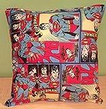 "Superman Pillow Classic DC Comics Pillow Super-Man Pillow HANDMADE in USA Pillow is approximately 10"" X 11"